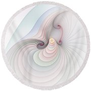 Round Beach Towel featuring the digital art Progression 2 by Richard Ortolano