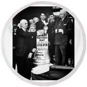 Prohibition Ends - Stroh's Brewery Celbrates - Detroit 1933 Round Beach Towel