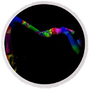 Projected Body Paint 2094947a Round Beach Towel