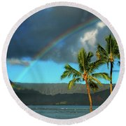 Promise Of Hope Round Beach Towel by Lynn Bauer