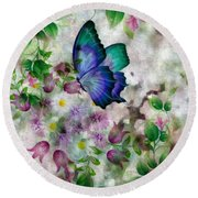 Promise Of Spring Round Beach Towel by Maria Urso