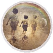 Phases Of The Journey--the Promise Of The Rainbow Round Beach Towel