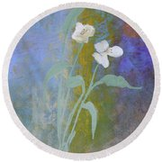Round Beach Towel featuring the painting Promise by Robin Maria Pedrero