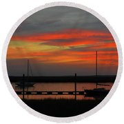 Promises-promises Round Beach Towel by Laura Ragland