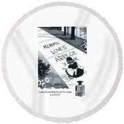 Round Beach Towel featuring the digital art Promises by ReInVintaged