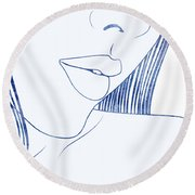 Pronoe Round Beach Towel