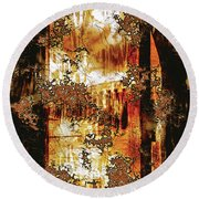 Round Beach Towel featuring the digital art Prophecy by Paula Ayers