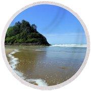 Proposal Rock Coastline Round Beach Towel