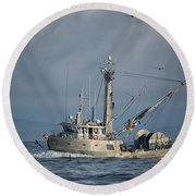 Round Beach Towel featuring the photograph Prosperity 2 by Randy Hall