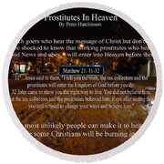 Prostitutes In Heaven Round Beach Towel