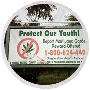 Protect Our Youth Round Beach Towel