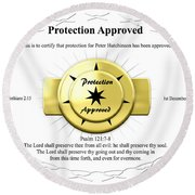 Protection Approved Round Beach Towel