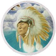 Proud As An Eagle Round Beach Towel