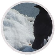 Proud Crow Round Beach Towel by Betty Pieper