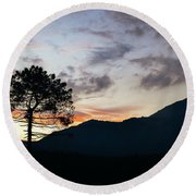 Provence, France Sunset Round Beach Towel