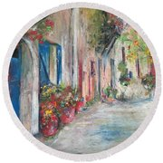 Provence Round Beach Towel by Robin Miller-Bookhout