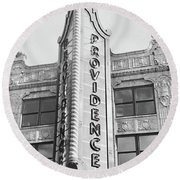 Round Beach Towel featuring the photograph Providence by Monique Faella