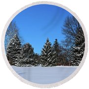 Provincial Pines Round Beach Towel