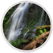 Round Beach Towel featuring the photograph Proxy Falls by Cat Connor