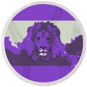 Pruple King Round Beach Towel