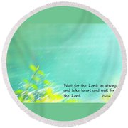 Psalm 27 Round Beach Towel