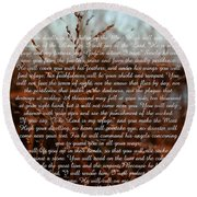 Psalm 91 Round Beach Towel