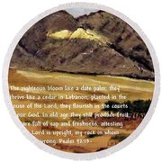Psalm 92 Round Beach Towel