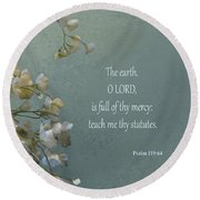 Psalms 03 Round Beach Towel