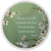 Psalms 04 Round Beach Towel