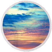 Psychedelic Round Beach Towel by  Newwwman