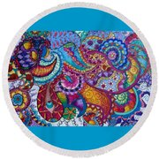 Psychedelic Paisley Round Beach Towel