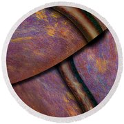 Round Beach Towel featuring the photograph Psychedelic Pi by Paul Wear