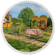 Round Beach Towel featuring the photograph Psychedelic Rock 1. by Leif Sohlman