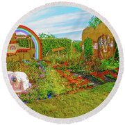 Round Beach Towel featuring the photograph Psychedelic Rock by Leif Sohlman