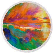 Psychedelic Sea Round Beach Towel