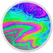 Round Beach Towel featuring the photograph Psychedelic Swirl by Jean Noren