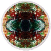 Psychedelic Trip Round Beach Towel