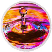 Psychedelic Water Drop Round Beach Towel