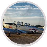 Pt-26 Sunrise Round Beach Towel