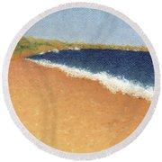 Pt. Reyes Beach Round Beach Towel
