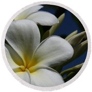 Pua Lena Pua Lei Aloha Tropical Plumeria Maui Hawaii Round Beach Towel