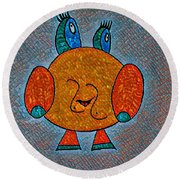 Puccy Round Beach Towel