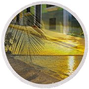Puerto Rico Collage 3 Round Beach Towel by Stephen Anderson