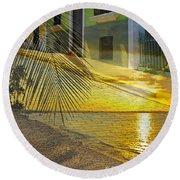 Puerto Rico Collage 3 Round Beach Towel
