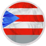 Puerto Rico Flag Round Beach Towel