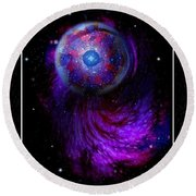 Pulsar At The Edge Of Space Round Beach Towel