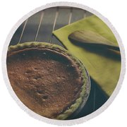Pumkin Pie Round Beach Towel