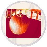 Pumpkin #1 Round Beach Towel