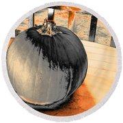 Pumpkin #2 Round Beach Towel