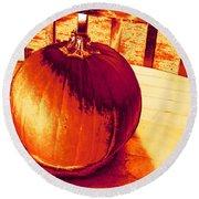 Pumpkin #3 Round Beach Towel